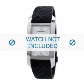 Burberry horlogeband BU1083 Rubber Zwart