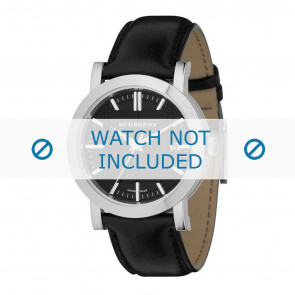 Burberry horlogeband BU1354 Glad leder Zwart