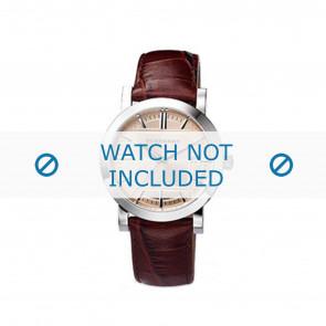 Burberry horlogeband BU1356 Leder Bruin 20mm
