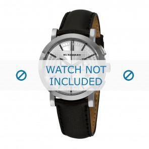 Burberry horlogeband BU1361 Leder Zwart 20mm + zwart stiksel