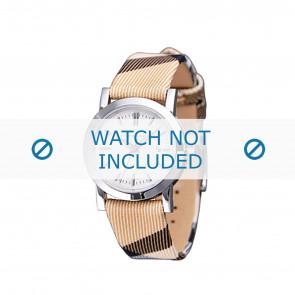 Burberry horlogeband BU1387 Leder Beige