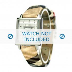 Burberry horlogeband BU2016 Leder Cream wit / Beige / Ivoor