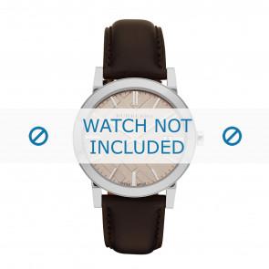 Burberry horlogeband BU9011 Leder Bruin + bruin stiksel