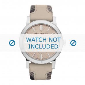 Burberry horlogeband BU9021 Leder Cream wit / Beige / Ivoor 20mm