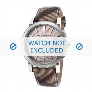 Burberry horlogeband BU9029 Leder Cream wit / Beige / Ivoor