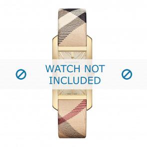 Burberry horlogeband BU9407 Leder Cream wit / Beige / Ivoor