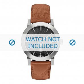Burberry horlogeband BU9905 Leder Bruin + bruin stiksel