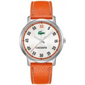 Pasek do zegarka Lacoste 2000568 / LC-41-3-14-2199 Skórzany Pomarańczowy 20mm