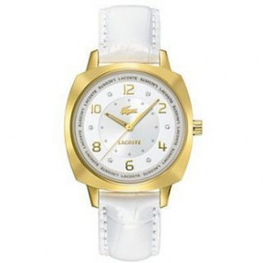Pasek do zegarka Lacoste 2000604 / LC-47-3-34-2234 Skórzany Biały 18mm