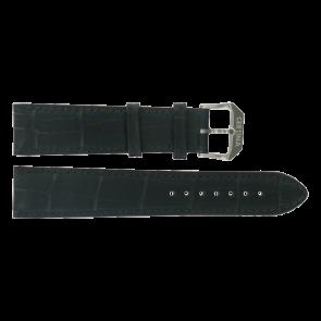 Certina horlogeband C600015907 21/18MM Leder Zwart 21mm + zwart stiksel
