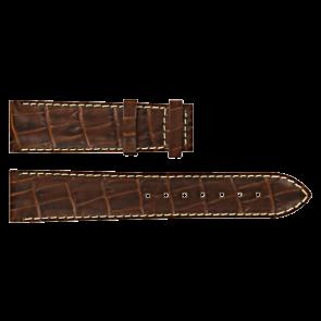 Certina horlogeband C610007728 / C61040201 / C536.7029.42.69 Leder Bruin 20mm + wit stiksel