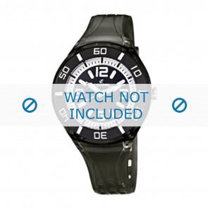 Calypso horlogeband K5588/8  Rubber Zwart