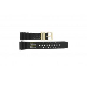 Pasek do zegarka Uniwersalny CMT-22-DBL Gumowy Czarny 22mm