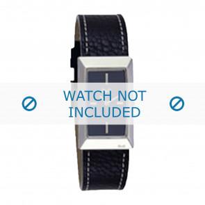 Dolce & Gabbana horlogeband 3719040015 Leder Zwart + wit stiksel