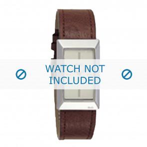 Dolce & Gabbana horlogeband 3719040028 Leder Bruin + bruin stiksel