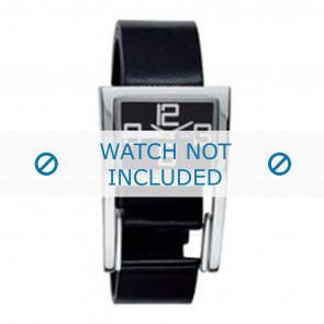 Dolce & Gabbana horlogeband 3719251215 Leder Zwart