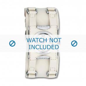 Dolce & Gabbana horlogeband DW0100 Leder Cream wit / Beige / Ivoor