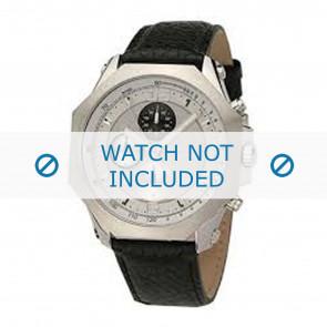 Dolce & Gabbana horlogeband DW0102 Leder Zwart + zwart stiksel