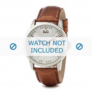 Dolce & Gabbana horlogeband DW0700 Leder Goud 22mm