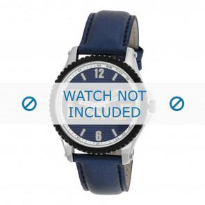Dolce & Gabbana horlogeband DW0709 Leder Blauw 20mm + blauw stiksel