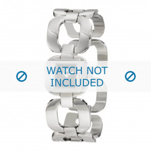 Dolce & Gabbana horlogeband DW0711 Staal Zilver
