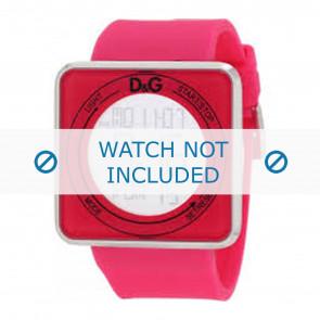 Dolce & Gabbana horlogeband DW0737 Rubber Roze 28mm