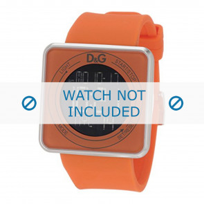 Dolce & Gabbana horlogeband DW0738 Rubber Oranje 28mm