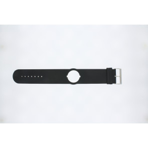 Jacques Lemans horlogeband DC500 Leder Zwart