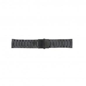 Diesel horlogeband DZ4318 / DZ4283 / DZ4316 / DZ4355 / DZ4309 Staal Zwart 26mm