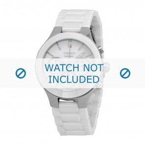 DKNY horlogeband NY4912 Keramiek Wit