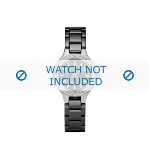 DKNY horlogeband NY4980 Keramiek Zwart 8mm