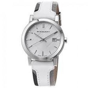 Pasek do zegarka Burberry BU9019 Skórzany Biały