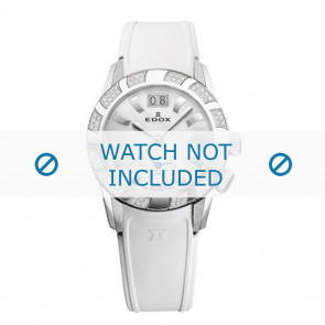 Edox horlogeband 62005 Silicoon Wit