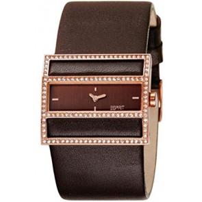 Esprit horlogeband ES-103072003 Leder Donkerbruin 30mm
