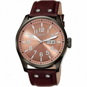 Esprit horlogeband ES103151002 Leder Bruin 25mm + bruin stiksel
