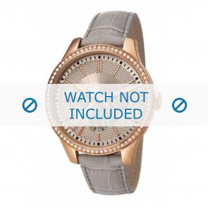 Esprit horlogeband ES107132002-40L Leder Grijs + grijs stiksel