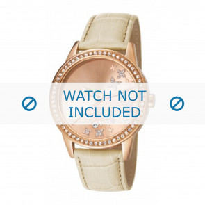 Esprit horlogeband ES107302002-40L Leder Beige + standaard stiksel