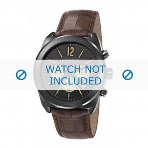 Esprit horlogeband ES107541 / ES107541002-40L Leder Zwart + zwart stiksel