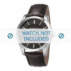 Esprit horlogeband ES107591 / ES107591001-40L Leder Zwart + zwart stiksel
