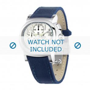 Festina horlogeband F16125.1 Leder Blauw 23mm + blauw stiksel