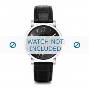 Hugo Boss horlogeband HB-19-1-14-2002 / HB1512175 / HB1512176 / HB1512008 Leder Zwart + zwart stiksel