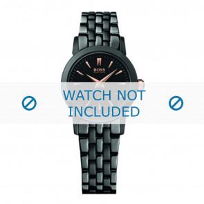 Hugo Boss horlogeband HB-194-3-34-2550 / HB1502343 Staal Zwart