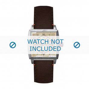 Hugo Boss horlogeband HB-34-1-14-2049 / HO1512141 Leder Bruin + bruin stiksel