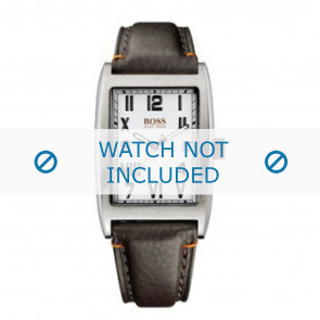 Hugo Boss horlogeband HO1512135 / HB-33-1-14-2056 Leder Bruin + standaard stiksel