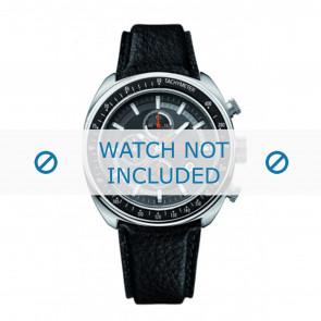 Hugo Boss horlogeband HB-69-1-14-2146 / HO1512377 Leder Zwart + zwart stiksel