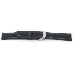 Pasek do zegarka Uniwersalny G080 XL Skórzany Niebieski 20mm