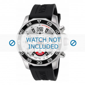 Invicta horlogeband 7430 Rubber Zwart 22mm