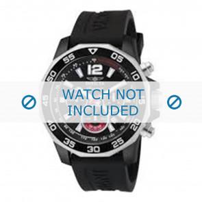 Invicta horlogeband 7433 Rubber Zwart 22mm