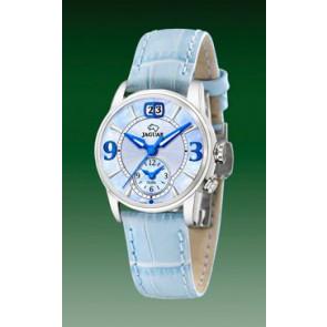 Pasek do zegarka Jaguar J624-2 Skórzany Jasny niebieski 17mm