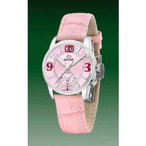 Pasek do zegarka Jaguar J624-3 Skórzany Różowy 17mm